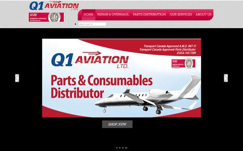 Screenshot of Home Page q1aviation.com - q1aviation - captured July 7, 2017