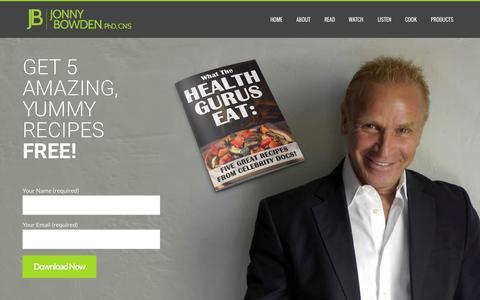 Screenshot of Home Page jonnybowden.com - Jonny Bowden | The Nutrition Mythbuster - captured Sept. 22, 2015