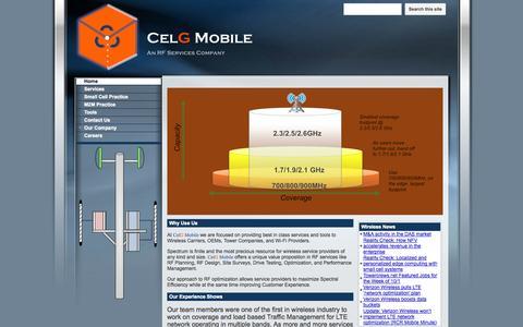 Screenshot of Home Page celgmobile.com - Home - captured Oct. 2, 2014