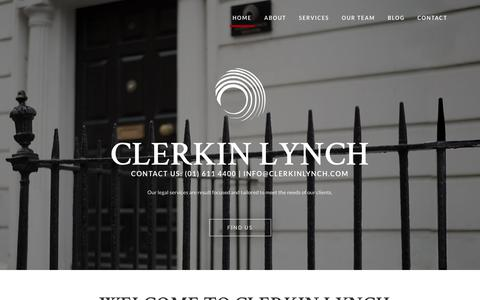 Screenshot of Home Page clerkinlynch.com - Clerkin Lynch - captured July 18, 2018