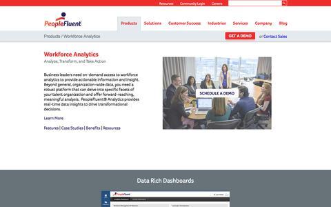 Workforce Planning and Analytics Software | PeopleFluent
