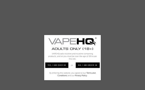 Screenshot of Contact Page vapehq.co.uk - Contact Us – VapeHQ - captured Oct. 20, 2018