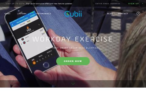 Screenshot of Home Page mycubii.com - Cubii | Work Out While You Work - captured Jan. 21, 2016