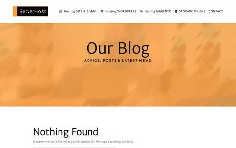 Screenshot of Blog serverhost.ro - Blog Archives - ServerHost - captured Nov. 7, 2018