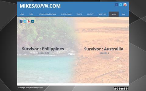 Screenshot of Team Page mikeskupin.com - MEDIA - captured Nov. 28, 2016