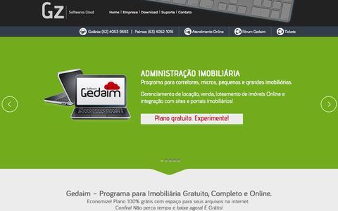 Screenshot of Home Page goyazsistemas.com.br - Sistema para imobiliária integrados a sites, portais - Gedaim - captured Oct. 5, 2014