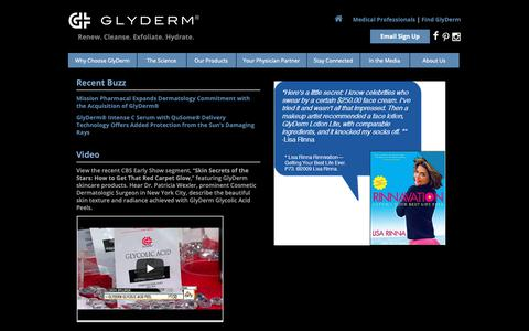 Screenshot of Press Page glydermusa.com - GlyDerm In The Media - Glyderm - captured Sept. 27, 2018