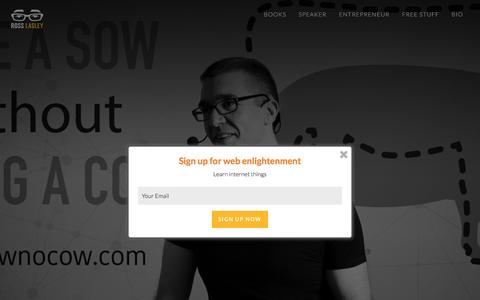 Screenshot of Home Page rosslasley.com - Home - Ross R. Lasley: Web Strategist, Geek, Website Middleman - captured April 2, 2016
