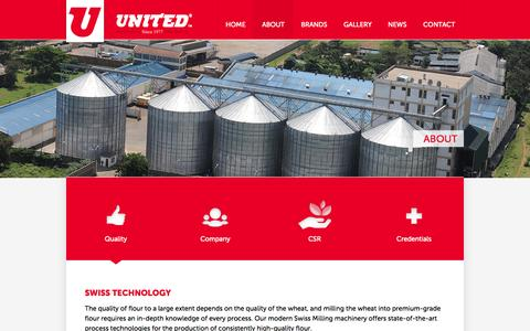 Screenshot of About Page united.co.ke - United Millers Ltd | About - captured Oct. 26, 2014