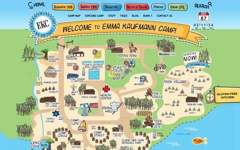 Screenshot of Maps & Directions Page emmakaufmanncamp.com - Emma Kaufmann Camp - captured March 24, 2016