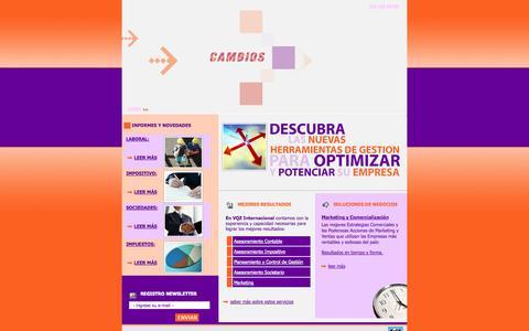 Screenshot of Home Page vqzint.com.ar - VQZ Internacional - Consultora Integral - captured Oct. 8, 2014