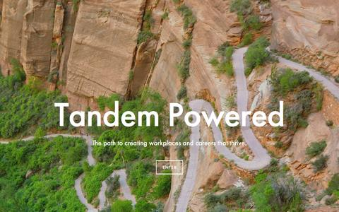 Screenshot of Home Page tandempowered.com - Tandem Powered - captured July 18, 2015
