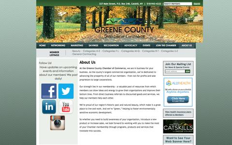 Screenshot of About Page greenecountychamber.com - About Us | Greene County Chamber of Commerce - captured April 23, 2016