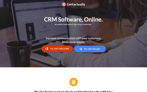 Screenshot of Landing Page contactually.com - Online CRM? Contactually Can Help! - captured Sept. 22, 2017