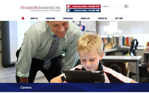 Screenshot of Jobs Page sais.edu.sg - Careers | Stamford American International School Singapore - captured Oct. 19, 2018