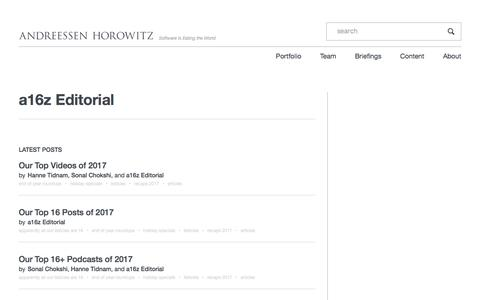 a16z Editorial – Andreessen Horowitz
