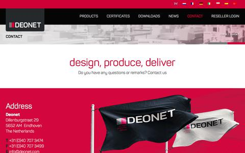 Screenshot of Contact Page deonet.com - Contact | Deonet - captured Oct. 7, 2017