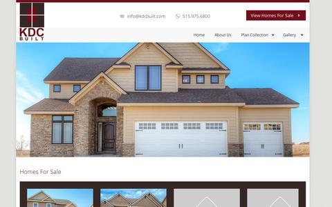 Screenshot of Home Page kdcbuilt.com - KDC Built - captured Oct. 6, 2014