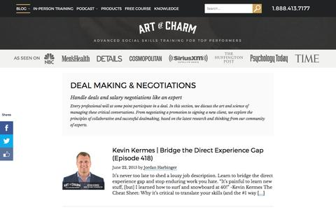 Deal Making & Negotiations Archives • The Art of Charm