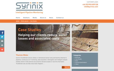 Screenshot of Case Studies Page syrinix.com - Case Studies - Syrinix - captured Nov. 5, 2014