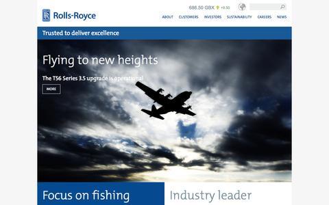 Screenshot of Home Page rolls-royce.com - Rolls-Royce - captured Oct. 1, 2015