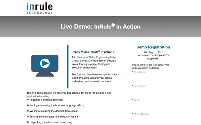 InRule Live Demo - Understand and Automate Decisions