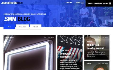 Screenshot of Blog socialmediamen.nl - SocialMediaMen Blog - captured Sept. 21, 2018