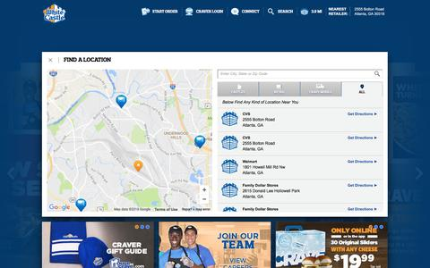 Screenshot of Locations Page whitecastle.com - White Castle - captured Dec. 3, 2016