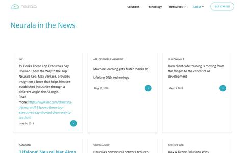 Screenshot of Press Page neurala.com - News   Neurala - captured May 17, 2018
