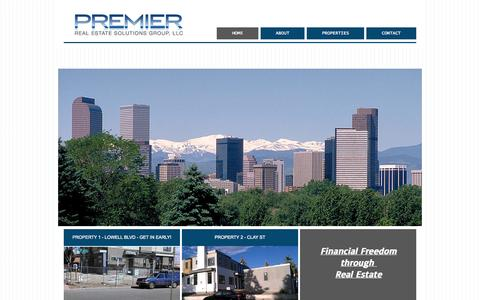 Screenshot of Home Page presgllc.com - Premier Real Estate Solutions Group, LLC - captured Oct. 2, 2014