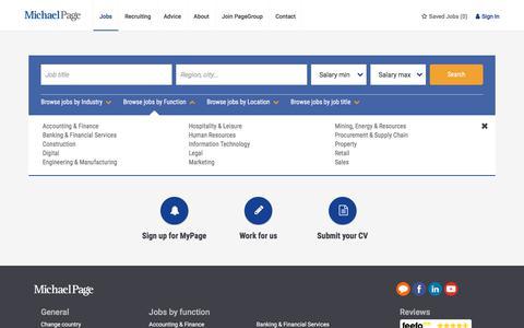 Screenshot of Jobs Page michaelpage.com.au - Job Search | Michael Page - captured Sept. 22, 2018