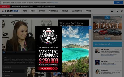 Screenshot of pokernews.com - Online Poker Videos. Tournaments, strategy and webcasts | PokerNews - captured Sept. 10, 2016