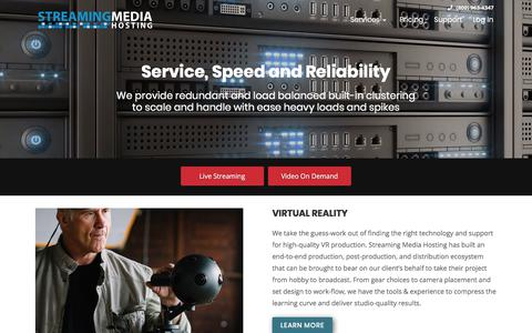 Screenshot of Services Page streamingmediahosting.com - Streaming Media Hosting and Our Product Offerings - captured Sept. 21, 2018