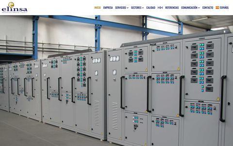 Screenshot of Home Page elinsa.org - Cuadros eléctricos. Diseño y fabricación. Instalaciones eléctricas. ELINSA - captured Nov. 4, 2018