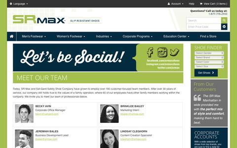 Screenshot of Team Page srmax.com - Team :: About Us - captured Sept. 30, 2017