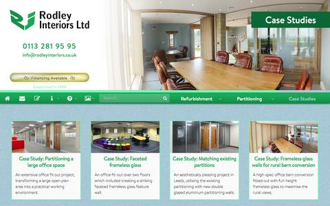 Screenshot of Case Studies Page rodleyinteriors.co.uk - Case Studies - captured Aug. 12, 2015