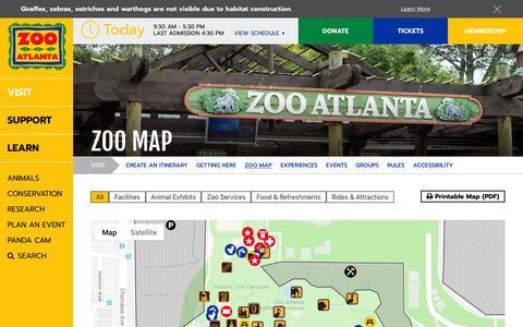 Screenshot of Maps & Directions Page zooatlanta.org - Zoo Map - Zoo Atlanta - captured Nov. 12, 2018