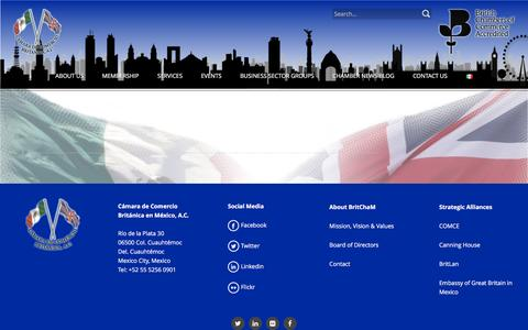 Screenshot of About Page britchamexico.com - About Us – British Chamber of Commerce in Mexico - captured Nov. 23, 2016