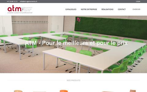 Screenshot of Home Page atm-agencements.ch - ATM – Agencements Techniques Modernes - captured Nov. 20, 2016
