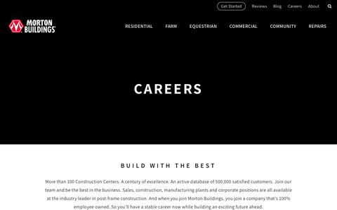 Careers |   Morton Buildings
