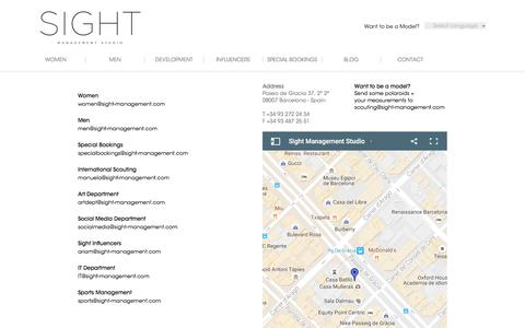 Screenshot of Contact Page sight-management.com - Contact - Sight Management Studio - captured Nov. 18, 2016