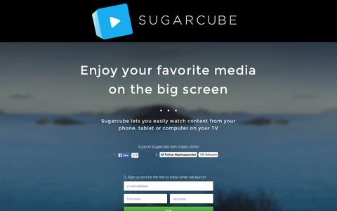 Screenshot of Signup Page getsugarcube.com - Sugarcube - captured Oct. 7, 2014