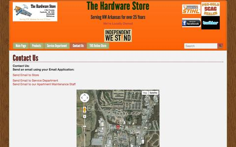 Screenshot of Contact Page ths5.com - Contact Us | The Hardware Store - captured Oct. 26, 2014