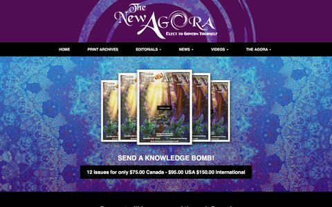 Screenshot of Contact Page Signup Page newagora.ca - Join – The New Agora Newspaper – Elect To Govern Yourself - captured Oct. 23, 2017