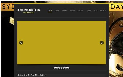 Screenshot of Home Page bollywoodclub.com.au - Australia's #1 Bollywood Club By Raj Khanna - captured Sept. 30, 2014