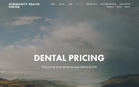 Screenshot of Pricing Page chcaustell.org - Pricing — Community Health Center - captured Aug. 12, 2017