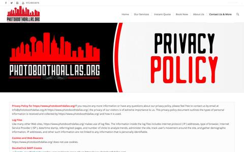 Privacy Policy | Photo Booth Rental Dallas - Wedding, Corporate & Party Rentals