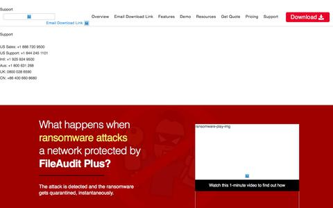 Detect Ransomware and Respond to it with FileAudit Plus