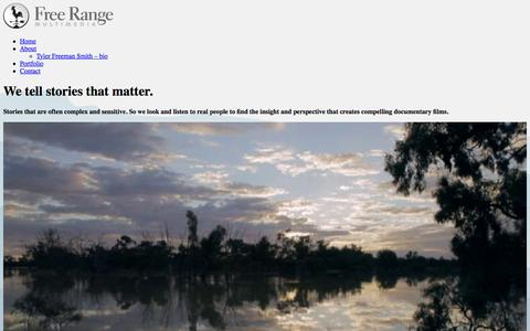 Screenshot of Home Page free-range.tv - Free Range Multimedia - captured Feb. 10, 2016