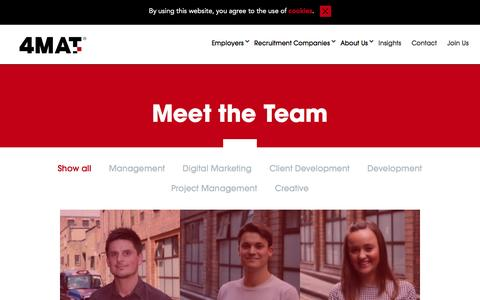 Screenshot of Team Page 4mat.com - Combined Team Page - captured Feb. 13, 2016